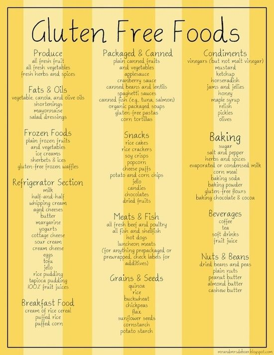GF foods